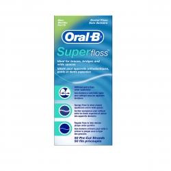 Superfloss Oral B - 50 Fils prérécoupés