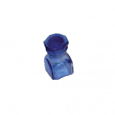 Flacon de pharmacie bleu