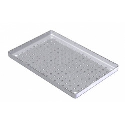 PLATEAUX INOX PERFORES 18X28