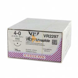FIL VICRYL RAP. VECTRAL VR2297 PAR 36  4-0 19MM 75CM
