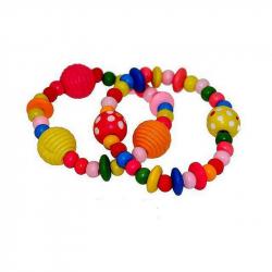 Jouets bracelets perle en bois par 60 loisirs distribution