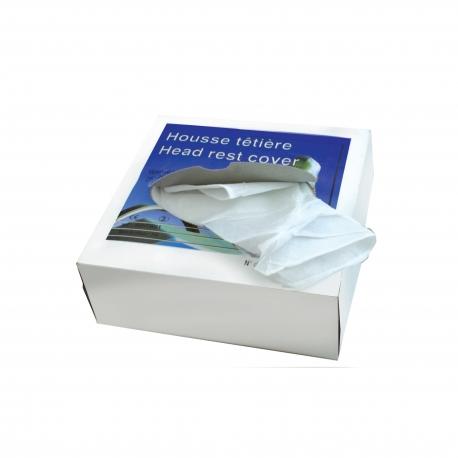 Housses têtières 25x25 cm blanches